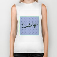 cunt Biker Tanks featuring Cunt Life Purple by Andy Aidekman