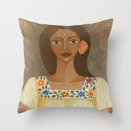 More than flowers she sells illusions Throw Pillow