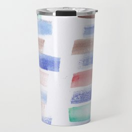 22  | 181101 Watercolour Palette Abstract Art | Lines | Stripes | Travel Mug