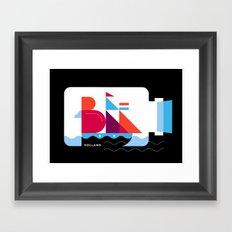 Postcards from Amsterdam / Bottle Ship Framed Art Print