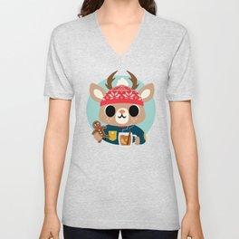 Deer in a Sweater Unisex V-Neck