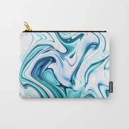 Liquid Marble - aqua & blues Carry-All Pouch