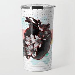 Flowers Bloom where the Heart Beats Travel Mug