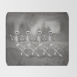 Dancing skeletons I Throw Blanket