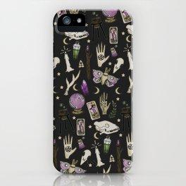 WITCH pattern • in black salt iPhone Case