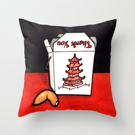 Take Out Fortune Throw Pillow
