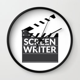 Gift for Screenwriters - Clapboard Name Wall Clock