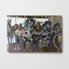 Prancing Ponies Metal Print