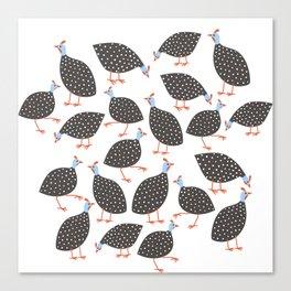 Guinea Hens Canvas Print