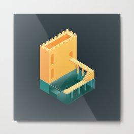 Logged Castle Metal Print