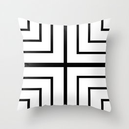 Square - Black and White Throw Pillow