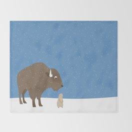 buffalo & prairie dog - I've got you covered Throw Blanket