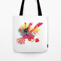 surfer Tote Bags featuring Surfer by Allison Reich