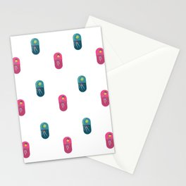 People Pill Pattern Stationery Cards