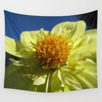dahlia Wall Tapestries featuring Dahlia 14 by Rodapsoh