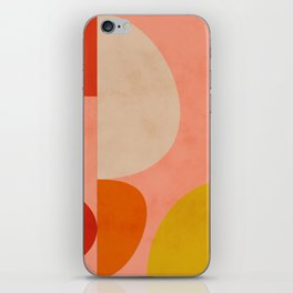 geometry shape mid century organic blush curry teal iPhone Skin