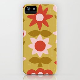 Folksy Floral Pattern No. 1 iPhone Case