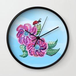 Contemplative Ladybug Wall Clock