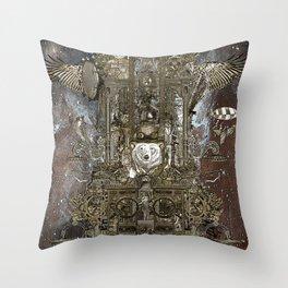 Steampunk Space Transport Throw Pillow