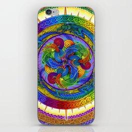 Psychedelic Dragons Rainbow Spirals Mandala iPhone Skin