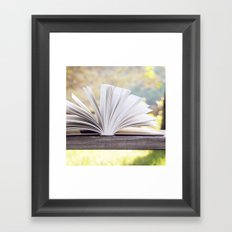 An Open Book Framed Art Print