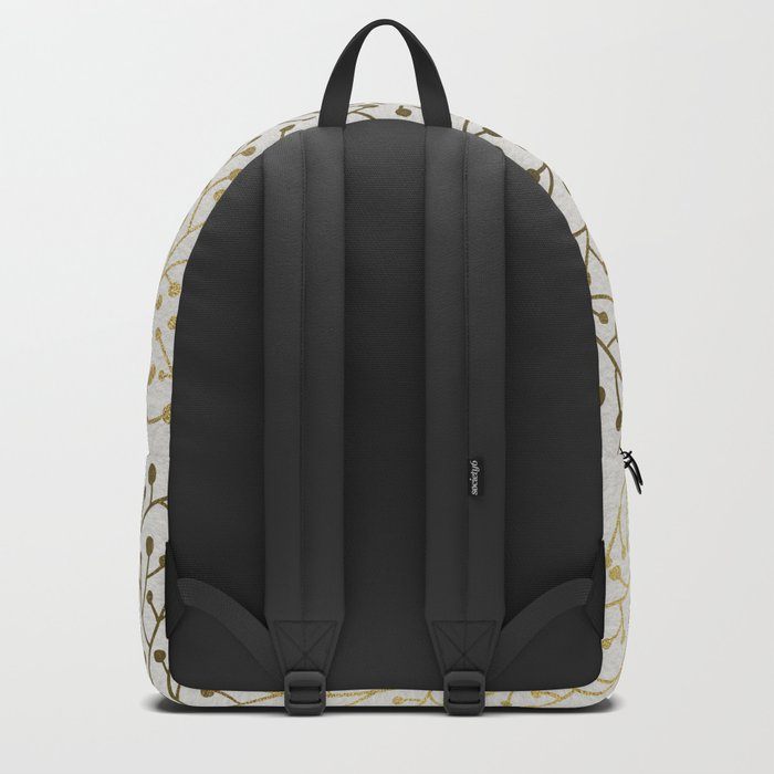 Gold Berry Branches Backpack