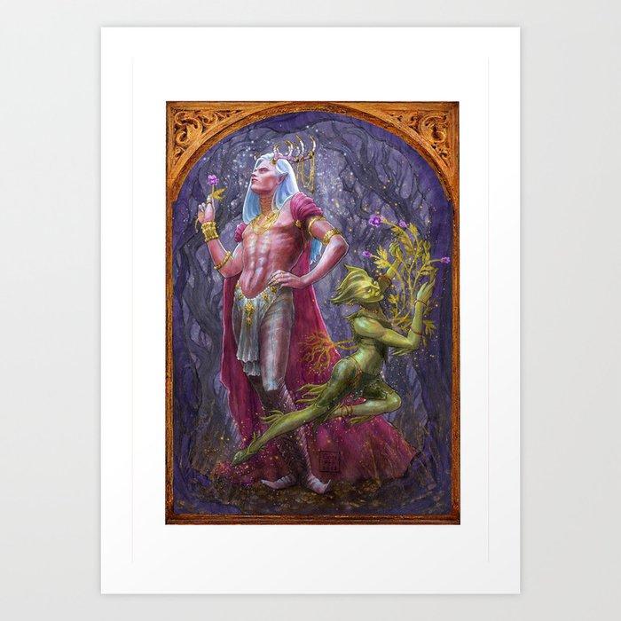 Oberon and Puck Art Print