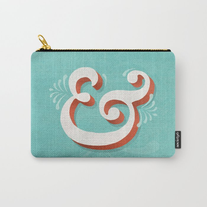 Caslon Pro ampersand Carry-All Pouch