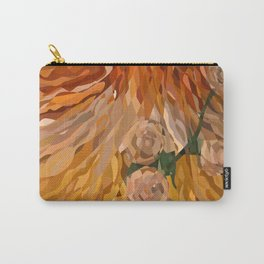 Weaved Flowers Carry-All Pouch