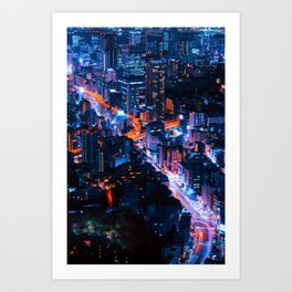 Tokyo Night Art Print