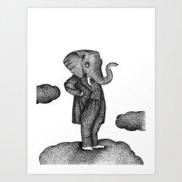 King of the world Art Print