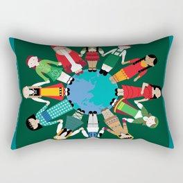 Kids Around the World Design Rectangular Pillow