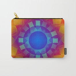 Orange and Blues Crystals Pattern Carry-All Pouch