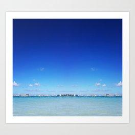 Beach and Sky Art Print