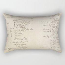 United States Constitution Signatures Rectangular Pillow