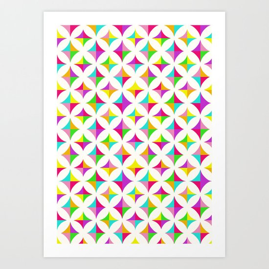 Colour Block 2 Art Print