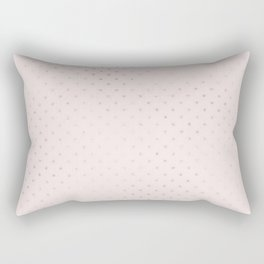 Trendy girly blush pink rose gold glitter polka dots Rectangular Pillow