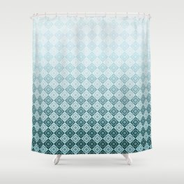 Geometric , gradient 2 Shower Curtain