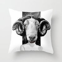 leia Throw Pillows featuring LEIA by kravic
