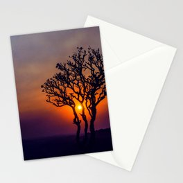 A Sunset Silhouette in Hampi, India Stationery Cards