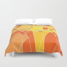 Abstract geometric orange pattern, vector illustration Duvet Cover