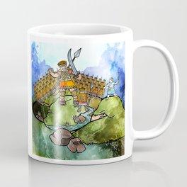 David & Goliath Watercolour Painting Coffee Mug
