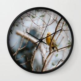 Yellow Wanderess Wall Clock