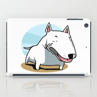 bull terrier iPad Cases featuring Bull Terrier by Jaume Tenes