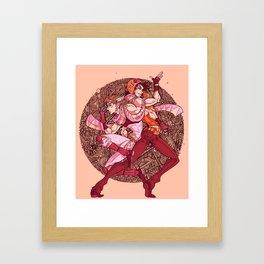 pattern bubble Framed Art Print