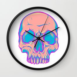 Colored skulls Wall Clock