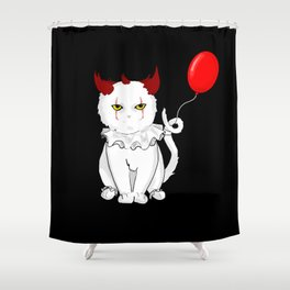 IT the cat Shower Curtain