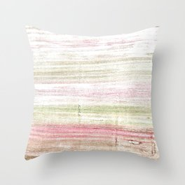 Dark vanilla abstract watercolor Throw Pillow