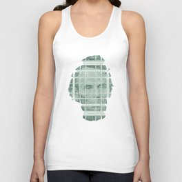 The Various Parts of Mr. Lincoln Exploding Towards the Viewer Unisex Tank Top