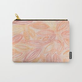 Fall Leaves in pale orange, terracotta, light yellow, muted red Carry-All Pouch